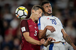 October 6, 2017 - Orlando, Florida, United States - Orlando, FL - Friday Oct. 06, 2017: Omar Gonzalez, Aníbal Godoy during a 2018 FIFA World Cup Qualifier between the men's national teams of the United States (USA) and Panama (PAN) at Orlando City Stadium. (Credit Image: © John Dorton/ISIPhotos via ZUMA Wire)