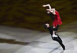 PYEONGCHANG, Feb. 25, 2018  Tessa Virtue/Scott Moir of Canada perform during the figure skating gala event at the 2018 PyeongChang Winter Olympic Games, in Gangneung Ice Arena, South Korea, on Feb. 25, 2018. (Credit Image: © Han Yan/Xinhua via ZUMA Wire)