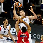 Anadolu Efes's Stanko Barac (B) during their Turkish Airlines Euroleague Basketball playoffs Game 4 Anadolu Efes between Olympiacos at Abdi ipekci Arena in Istanbul, Turkey, Friday, April 19, 2013. Photo by Aykut AKICI/TURKPIX