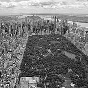 (Image converted to black and white.) Aerial footage shows a New York City that looks virtually empty with closed businesses and limited traffic due to the Coronavirus (Covid-19) outbreak along with the continuing protests due to the police killing of George Floyd on Monday, June 1, 2020 in New York City.  Nonessential businesses have been closed and large gatherings have been banned across the state since March 22 under an emergency order issued by Governor Cuomo and an 11 p.m. curfew was ordered by NY Mayor Bill de Blasio amid the Floyd protests. (Alex Menendez via AP)