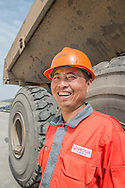 CHINA / Shanghai <br /> <br /> Shanghai Laogang MSW Treatment / Veolia Enviromental Services / Volvo Construction Equipment used in the site / Xu Long Ming , Volvo Operator <br /> <br /> © Daniele Mattioli Shanghai China Corporate and Industrial Photographer  for Spirit Volvo