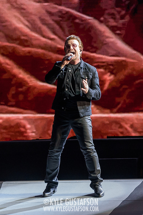 HYATTSVILLE, MD - June 20th, 2017 - U2's Bono performs at FedEx Field as part of the band's 30th anniversary tour of The Joshua Tree. (Photo by Kyle Gustafson / For The Washington Post)