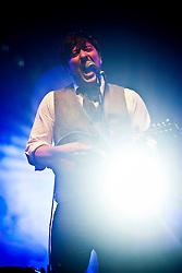 Marcus Mumford of Mumford & Sons headline the main stage on Friday night..Rockness 2012..©Michael Schofield..