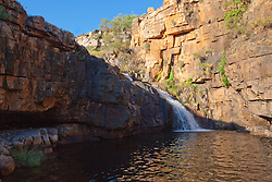 """Ruby Falls in Doubtful Bay, is a popular swimming spot with chrter boat operators on the Kimberley coast.  The falls were named by Skipper Chris """"Trippy"""" Tucker, after his daughter."""