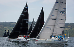 Sailing - SCOTLAND  - 27th May 2018<br /> <br /> DAY 3 Racing the Scottish Series 2018, organised by the  Clyde Cruising Club, with racing on Loch Fyne from 25th-28th May 2018<br /> <br /> IRL1141, Storm, David Kelly, HYC/RSC,J109<br /> GBR9470R, Banshee, Charlie Frize, CCC, Corby 33.<br /> <br /> Credit : Marc Turner<br /> <br /> Event is supported by Helly Hansen, Luddon, Silvers Marine, Tunnocks, Hempel and Argyll & Bute Council along with Bowmore, The Botanist and The Botanist