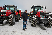 Jake Grove, 39 of Fauquier County VA outside at The Virginia Farm Show in Fishersville, VA, Wednesday, January 17, 2018. The Farm Show is the only agricultural trade show in Virginia that caters to the full-time, as well as the part-time farmer. Photo by Justin Ide