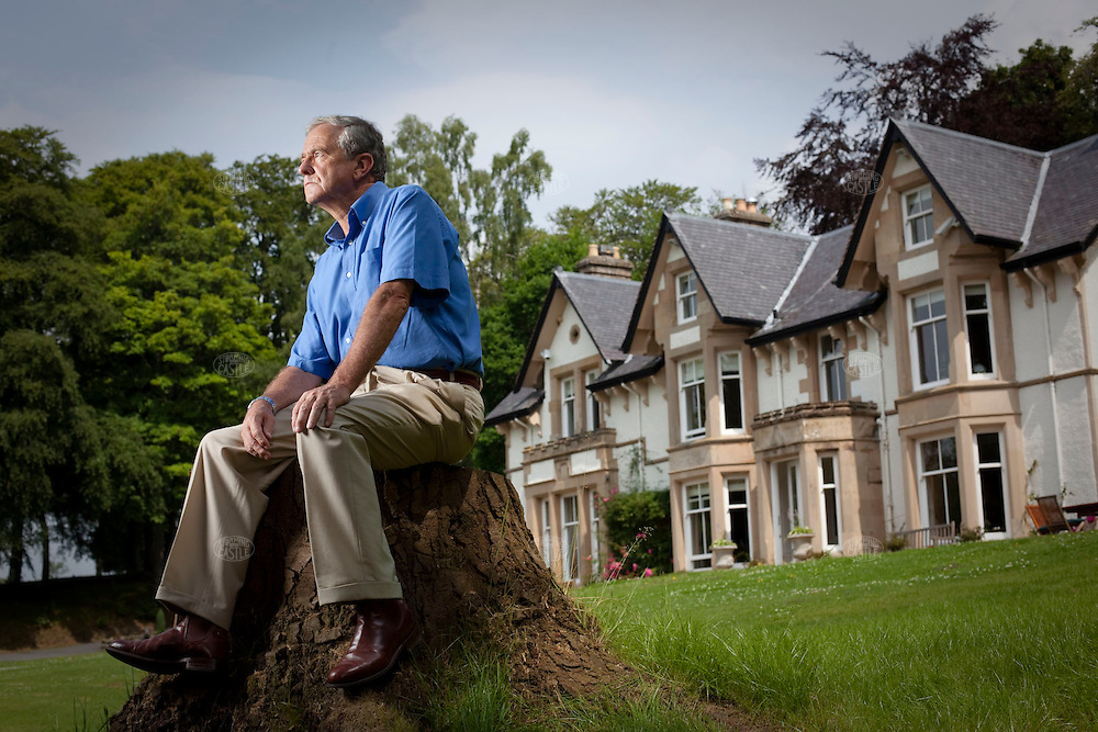 Photo ©2009 Tom Wagner.  Portrait of Sir George Mathewson, the ex-chairman of RBS (Royal Bank of Scotland), photographed at his home in the Perthshire countryside of Scotland. He has Scottish nationalist sympathies. He is also the architect of RBS corporate global expansion.  ©Tom Wagner 2009, all moral rights asserted.