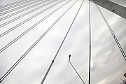cables of a modern suspension bridge