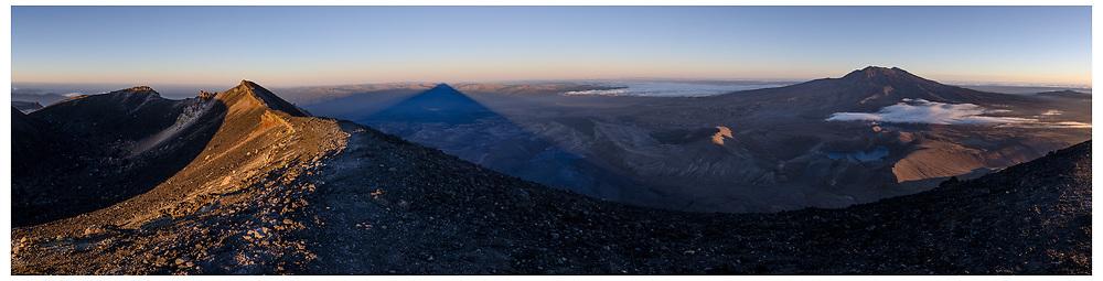 Mt Ruapehu from Mt Ngauruhoe. Tongariro National Park.