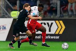 23-11-2019 NED: FC Utrecht - AZ Alkmaar, Utrecht<br /> Round 14 / Jonas Svensson #2 of AZ Alkmaar, Jean-Christophe Bahebeck #9 of FC Utrecht
