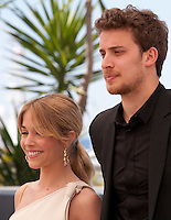 Alice Isaaz and Jonas Bloquet at the Elle film photo call at the 69th Cannes Film Festival Saturday 21st May 2016, Cannes, France. Photography: Doreen Kennedy