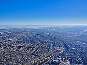 Nederland, Noord-Holland, Amsterdam, 13-02-2021; winter in Amsterdam, overzichten grachtengordel en Amsterdam-Oost.<br /> Winter in Amsterdam, overviews canal belt tand East. luchtfoto (toeslag op standaard tarieven);<br /> aerial photo (additional fee required)<br /> copyright © 2021 foto/photo Siebe Swart