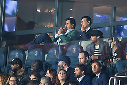 President of Qatar, Cheikh Tamim ben Hamad Al Thani attends the UEFA Champions League match between Paris Saint Germain and Real Madrid at Parc des Princes on September 18, 2019 in Paris, France<br /> Photo by David Niviere/ABACAPRESS.COM