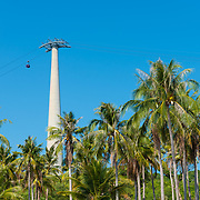 Phu Quoc Cabel Car Mast Among Palms, Vietnam