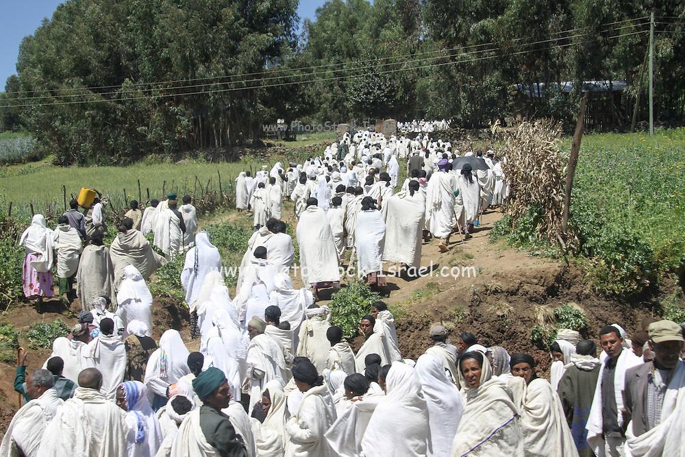 Ethiopia, Pilgrims at Gondar