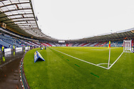 A wet Hampden Park welcomes both teams ahead of the William Hill Scottish Cup Final match between Heart of Midlothian and Celtic at Hampden Park, Glasgow, United Kingdom on 25 May 2019.