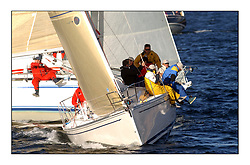 Yachting- The start of the Bell Lawrie Scottish series 2002 at Gourock racing overnight to Tarbert Loch Fyne where racing continues over the weekend.<br /><br />Elan 333 - Elanor 3331C overall winner<br /><br />Pics Marc Turner / PFM