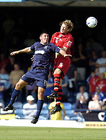 Photo: Olly Greenwood.<br />Southend United v Cardiff City. Coca Cola Championship. 24/09/2006. Cardiff's Glenn Loovens and Southend's Billy Paynter