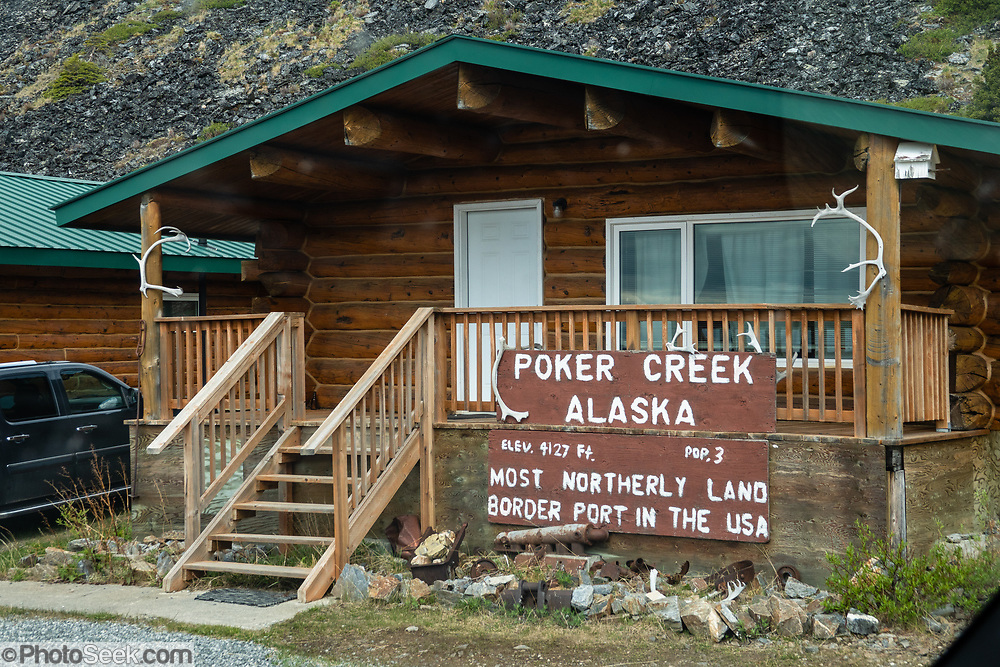 The Poker Creek–Little Gold Creek Border Crossing (4127 ft elevation) is on the Top of the World Highway, which connects the communities of Tok, Alaska and Dawson, Yukon on the Canada–United States border. This is the northernmost international border crossing in North America.