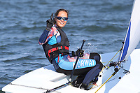 Seiling , 4. august 2016 RIO DE JANEIRO, - OLYMPICS, SAILING - Olympic Summer Games Rio 2016, preview, training. Image shows Tiril Bije (NOR). <br /> <br /> Norway only