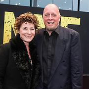 NLD/Amsterdam/20140508 - Wereldpremiere Musical Anne, Haye van der Heijden en partner Veronique van der Scheer