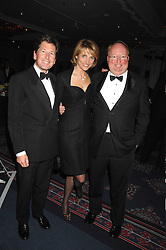 Left to right, MR JOHN & LADY CAROLYN WARREN and CHRISTY GRASSICK manager of Coolmore where the Dylan Thomas 2007 Cartier Horse of the Year is trained at the 17th annual Cartier Racing Awards 2007 held at the Four Seasons Hotel, Hamilton Place, London on 14th November 2007.<br /> <br /> NON EXCLUSIVE - WORLD RIGHTS