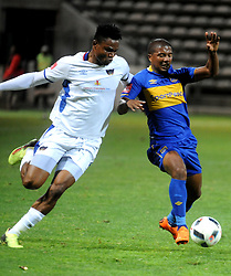 Cape Town 18-03-03 Cape Town City lyle Lakay attacking as Chippa player James Okwuosa defending  in the PSL Game In Athlone Staduim Pictures Ayanda Ndamane African news agency/ANA