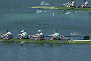 2005 FISA Rowing World Cup Munich,GERMANY. 19.06.2005; IRL LM4- Bow Richard Archibald, EugeneCoakley, Tim Harnedy and Paul Griffin. Photo  Peter Spurrier. .email images@intersport-images.[Mandatory Credit Peter Spurrier/ Intersport Images] Rowing Course, Olympic Regatta Rowing Course, Munich, GERMANY