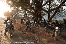 Pull off on a mountain switchback on day-9 of our Himalayan Heroes adventure riding from Pokhara to Nuwakot, Nepal. Wednesday, November 14, 2018. Photography ©2018 Michael Lichter.
