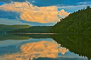 Cloud reflection on la Rivière Saint-Maurice (Saint-Maurice River)<br />Grande Piles<br />Quebec<br />Canada
