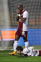 Deception Metz - Florent MALOUDA - 03.12.2014 - Metz / Bordeaux - 16eme journee de Ligue 1 <br />