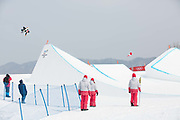 Stef Vandeweyer, Belguim, during the mens Snowboard Slopestyle Qualifications at the Pyeongchang Winter Olympics on the 10th February 2018 in Phoenix Snow Park in South Korea