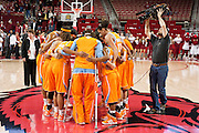 Jan 8, 2012; Fayetteville, AR, USA; Tennessee Lady Volunteers gather following a game against the Arkansas Razorbacks at Bud Walton Arena. Tennessee defeated Arkansas 69-38. Mandatory Credit: Beth Hall-US PRESSWIRE