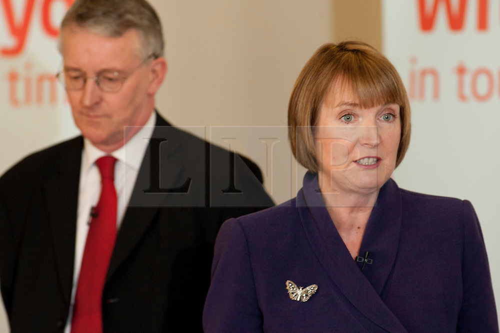 © Licensed to London News Pictures.02/04/2012. Birmingham, UK. Labour Party Leader Ed Miliband launched Labour's Local Election Campaign in Birmingham earlier today. Pictured, Harriet Harman and Hilary Benn add their support. Photo credit : Dave Warren/LNP