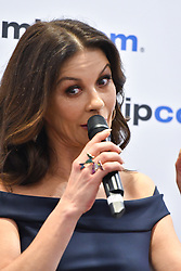 "Press conference A+E Networks : Catherine Zeta-Jones actrice dans la serie TV ""Cocaine Godmother"", Patrick Vien is Executive Managing Director, International at A+E Networks et Tanya Lopez as Senior Vice President durant le MIPCOM 2017 a Cannes. <br />