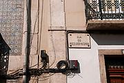 Street sign Rua Do Poco Dos Negros,  Old Town, Lisbon, Portugal