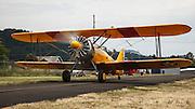 N3N taxiing at Wings and Wheels at Oregon Aviation Historical Society.