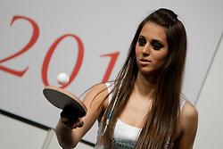 Teja Rajteric during event Miss Sports of Slovenia 2012, on April 21, 2012, in Festivalna dvorana, Ljubljana, Slovenia. (Photo by Urban Urbanc / Sportida.com)