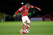 Opi Edwards of Bristol City in action. The Emirates FA Cup, 3rd round match, Watford v Bristol City  at Vicarage Road in Watford, London on Saturday 6th January 2018.<br /> pic by Steffan Bowen, Andrew Orchard sports photography.