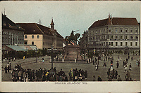 Zagreb : Jelačiće′ trg.<br />  <br /> ImpresumZagreb : Naklada tiskare A. Brusina, [prije 1905].<br /> Materijalni opis1 razglednica : tisak ; 9 x 13,9 cm.<br /> NakladnikTiskara A. Brusina<br /> Vrstavizualna građa • razglednice<br /> ZbirkaZbirka razglednica • Grafička zbirka NSK<br /> ProjektPozdrav iz Zagreba • Pozdrav iz Hrvatske<br /> Formatimage/jpeg<br /> PredmetZagreb –– Trg bana Josipa Jelačića<br /> SignaturaRZG-JEL-18<br /> Obuhvat(vremenski)20. stoljeće<br /> NapomenaPoleđina razglednice je namijenjena samo za adresu. • Razglednica nije putovala.<br /> PravaJavno dobro<br /> Identifikatori000952429<br /> NBN.HRNBN: urn:nbn:hr:238:193171 <br /> <br /> Izvor: Digitalne zbirke Nacionalne i sveučilišne knjižnice u Zagrebu
