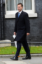 © Licensed to London News Pictures. 21/09/2017. London, UK. Health Secretary JEREMY HUNT arrives for a cabinet meeting in Downing Street. Photo credit: Ray Tang/LNP