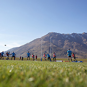 The Irish team training at The Queenstown Events Centre in preparation for the IRB Rugby World Cup.   Queenstown, New Zealand, 7th September 2011. Photo Tim Clayton...