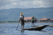 Myanmar, Shan state, Inle lake Traditional fishing
