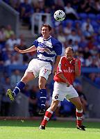 Lee Hodges (Reading) Claus Jensen (Charlton Athletic) Reading v Charlton Athletic, Pre-Season Friendly, 5/08/2000. Credit: Colorsport / Paul Roberts