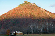 House at bottom of mountain. Allegheny Mountains. West Virginia. United States of America.