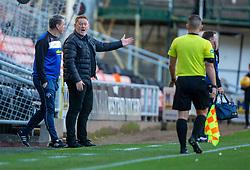 Morton's manager David Hopkin. Dundee United 6 v 0 Morton, Scottish Championship game played 28/9/2019 at Dundee United's stadium Tannadice Park.