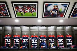 Shirts hang in the home dressing room - Rogan/JMP - 13/04/2018 - RUGBY UNION - Ashton Gate Stadium - Bristol, England - Bristol Rugby v Doncaster Knights - Greene King IPA Championship.