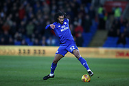 Armand Traore of Cardiff city in action. EFL Skybet championship match, Cardiff city v Bolton Wanderers at the Cardiff city Stadium in Cardiff, South Wales on Tuesday 13th February 2018.<br /> pic by Andrew Orchard, Andrew Orchard sports photography.