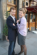 Amber Nuttall  and Tom Aikens, PJ's Annual Polo Party . Annual Pre-Polo party that celebrates the start of the 2007 Polo season.  PJ's Bar & Grill, 52 Fulham Road, London, SW3. 14 May 2007. <br />  -DO NOT ARCHIVE-© Copyright Photograph by Dafydd Jones. 248 Clapham Rd. London SW9 0PZ. Tel 0207 820 0771. www.dafjones.com.