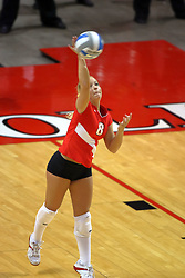 11 September 2007:  Kasey Mollerus serving. Ohio State Buckeyes bested the Illinois State Redbirds 3 games to 1 at Redbird Arena on the campus of Illinois State University in Normal Illinois.